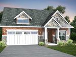 3D House Front Elevation Rendering